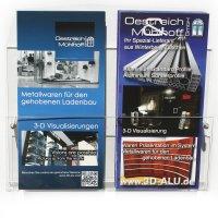 OMsolid® Premium Wand-Display für Prospekte A5/A4