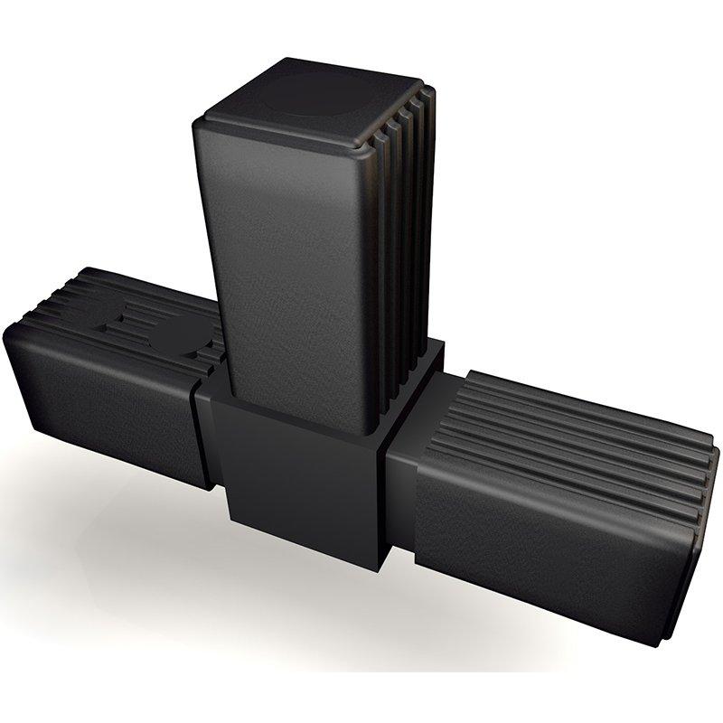 steckverbinder form t stahlkern gew m10 f r rohr 30x30 3d alu onl. Black Bedroom Furniture Sets. Home Design Ideas