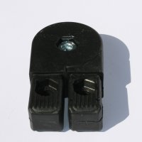 SV30G2, Steckverbinder mit Gelenk 0°-190° und 2 Zapfen für Rohr 30x30x2mm