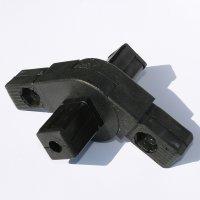 SV30G4, Steckverbinder mit Gelenk 0°-190° und 4 Zapfen für Rohr 30x30x2mm